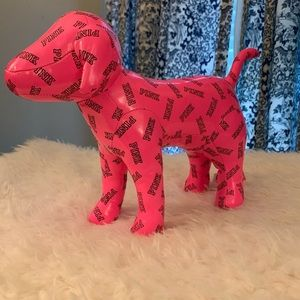 Large hot pink Victoria Secret dog.